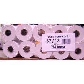 Zestaw rolek termicznych, 57/18 mm, 10 sztuk