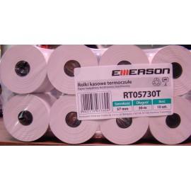 Zestaw rolek termicznych EMERSON, 57 mm x 30 m, 10 szt.