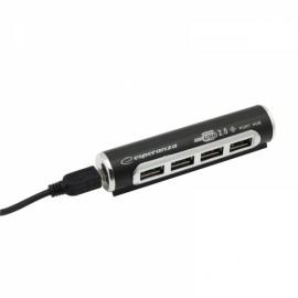 4-portowy, aluminiowy hub USB 2.0 Esperanza EA 115